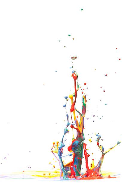Multicolor Paint Splash Isolated on White:スマホ壁紙(壁紙.com)