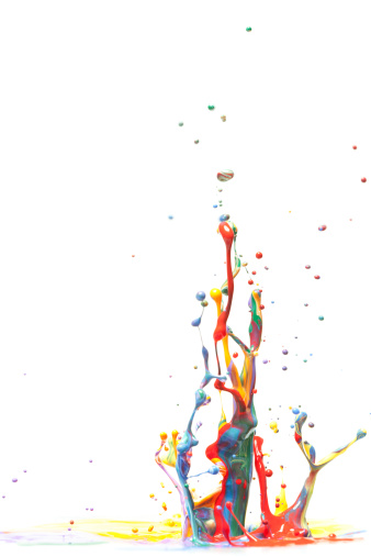 Ink「Multicolor Paint Splash Isolated on White」:スマホ壁紙(6)