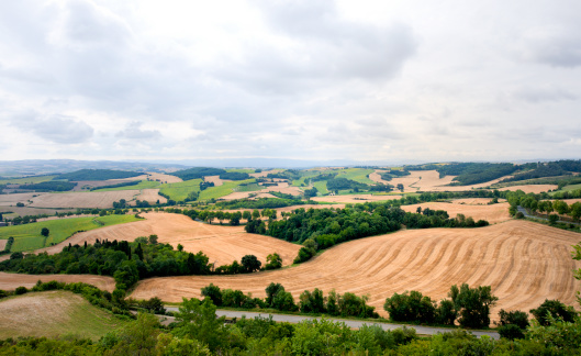 Patchwork Landscape「patchwork landscape at moody sky in France」:スマホ壁紙(10)
