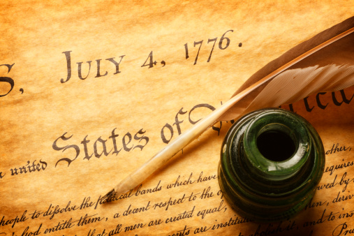 Fourth of July「Quill and inkwell on top of Declaration of Independence」:スマホ壁紙(18)
