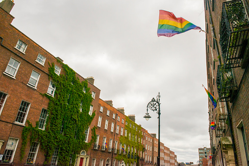 虹「ゲイプライド国旗、ダブリン、アイルランドます。」:スマホ壁紙(9)