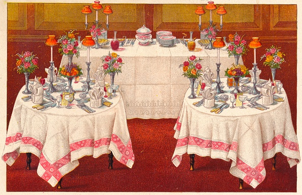 Crockery「Supper Tables With Buffet」:写真・画像(12)[壁紙.com]