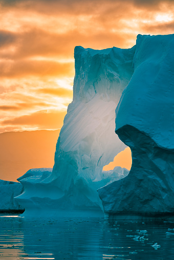 Fjord「Sunset, Icebergs, Icefjord, Greenland」:スマホ壁紙(17)