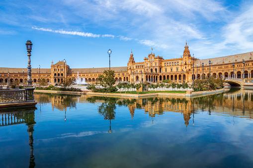 Town Square「Spain, Andalusia, Sevilla, Plaza de Espana」:スマホ壁紙(5)