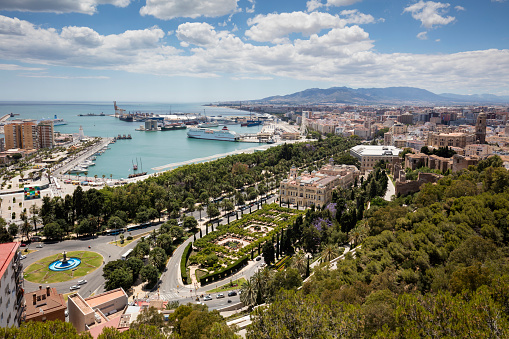 Málaga - Málaga Province「Spain, Andalusia, Malaga, Old town, townhall and harbour」:スマホ壁紙(18)