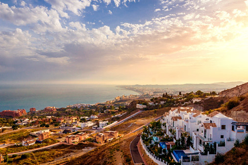 Málaga - Málaga Province「Spain, Andalusia, Malaga Province, Marbella, Panorama」:スマホ壁紙(1)