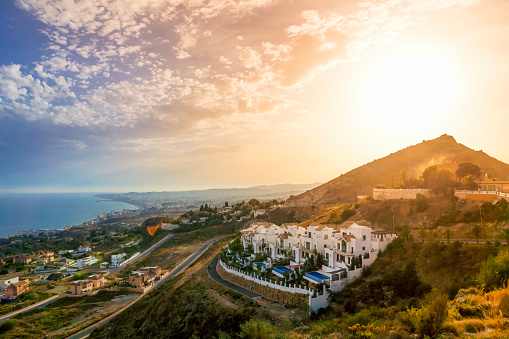 Málaga - Málaga Province「Spain, Andalusia, Marbella at sunset」:スマホ壁紙(12)