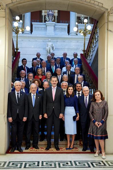 Spanish Royalty「Spanish Royals Attend The Presidency of the Plenary Of The Spanish Royal Academy」:写真・画像(7)[壁紙.com]