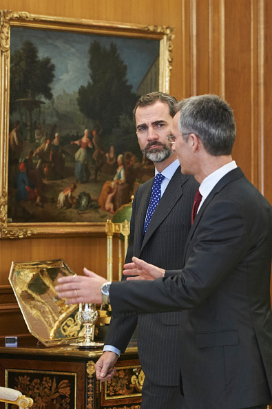 Carlos Alvarez「King Felipe of Spain Meets Secretary General of NATO」:写真・画像(15)[壁紙.com]