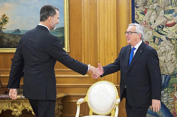 King Felipe Of Spain Meets Jean-Claude Juncker At Zarzuela Palace:ニュース(壁紙.com)