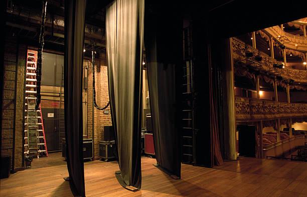 Side-scenes of a classical theatre:スマホ壁紙(壁紙.com)