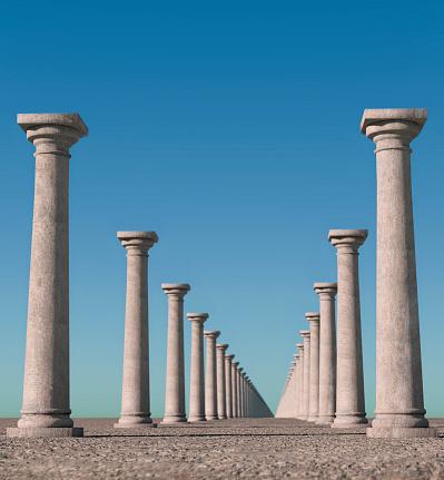 Vertical「Endless columns.」:スマホ壁紙(8)