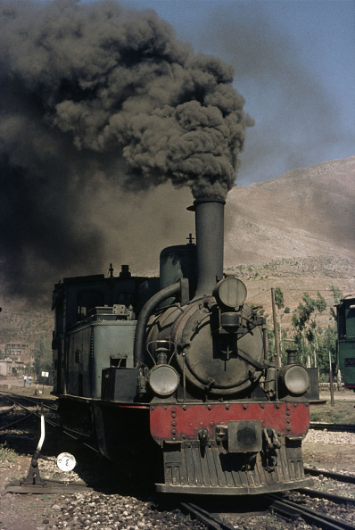 T 「A Syrian 2-6-0T raises the pressure at Sergayah on the border with Lebanon having arrived with an excursion train from Damascus on Friday 18th June 1976. The engine was built by SLM in 1894.」:写真・画像(2)[壁紙.com]