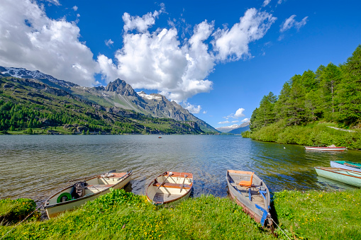 European Alps「Lake Sils, Upper Engadine valley (Graubünden, Switzerland)」:スマホ壁紙(9)