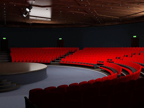 Theatre hall with empty seats:スマホ壁紙(壁紙.com)