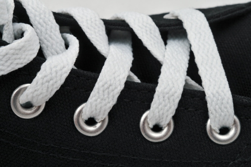 Lace - Fastener「A number of white laces on black sneakers」:スマホ壁紙(11)
