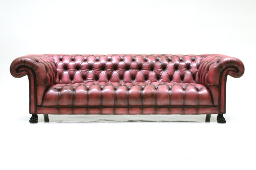 Large「Large custom made brown leather sofa on white background」:スマホ壁紙(11)