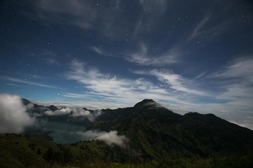 星空「Night sky on the top of a volcano」:スマホ壁紙(2)