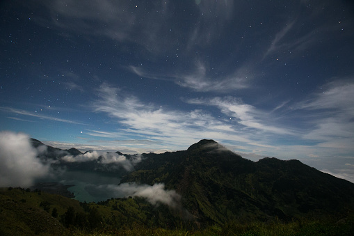 star sky「Night sky on the top of a volcano」:スマホ壁紙(2)