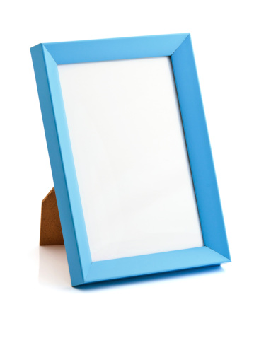 Standing「Blue photo frame」:スマホ壁紙(1)