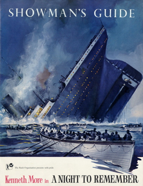 Movie「Titanic sinking on the cover of Showman's Guide for the Rank Organisation film ' A night to remember ' with Kenneth More」:写真・画像(9)[壁紙.com]