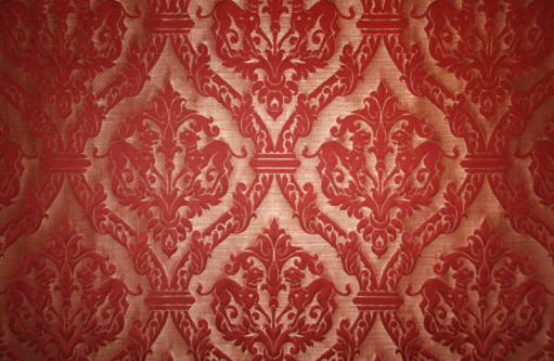 Baroque Style「Red tapestry background」:スマホ壁紙(3)