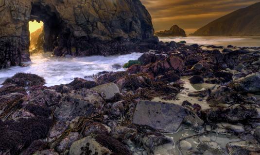 Pfeiffer Beach「Heaven's Gate」:スマホ壁紙(10)