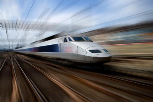 Passenger Train「TGV train at speed (blurred motion)」:スマホ壁紙(4)