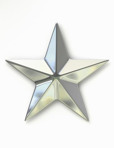 星型「Silver Metal Star」:スマホ壁紙(6)