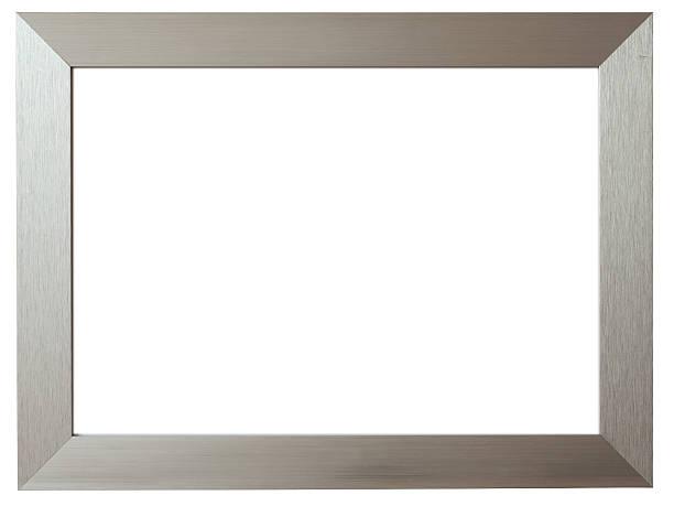 Silver metal picture frame against white background:スマホ壁紙(壁紙.com)
