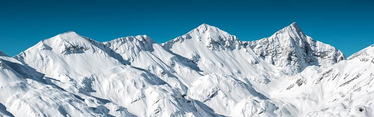 雪「山脈のパノラマ」:スマホ壁紙(0)