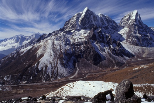 Khumbu「Mountain range with valley in forefront」:スマホ壁紙(3)