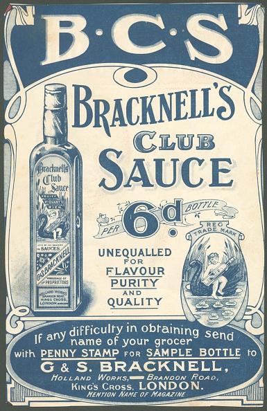 Condiment「Bracknell's Club Sauce, 1890s.」:写真・画像(4)[壁紙.com]