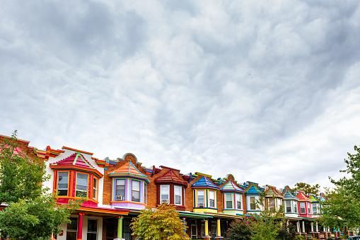 Row House「Colorful Houses of Baltimore」:スマホ壁紙(0)