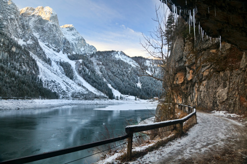 Dachstein Mountains「Winter Lake, Austria」:スマホ壁紙(15)
