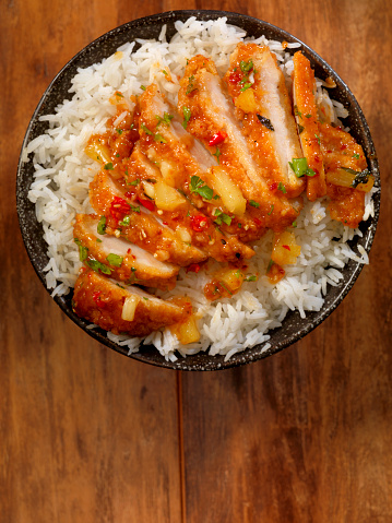 Sweet And Sour Dish「Sweet and Sour Chicken with Rice」:スマホ壁紙(14)