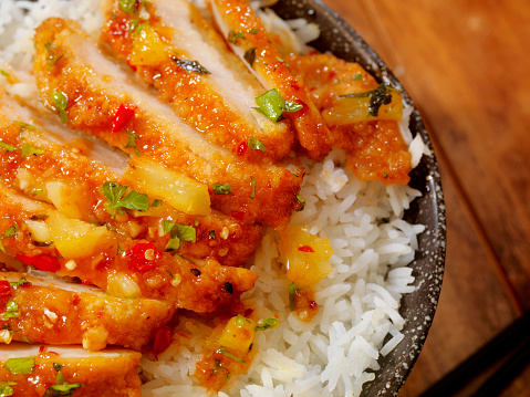 Marinated「Sweet and Sour Chicken with Rice」:スマホ壁紙(11)