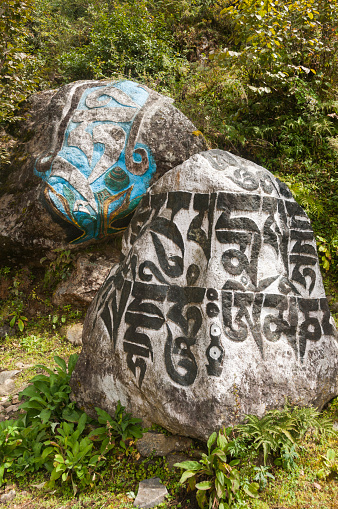 Khumbu「Mani prayer stone alongside Everest trail」:スマホ壁紙(13)