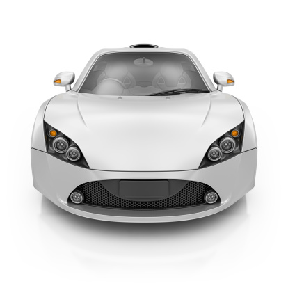 Sports Car「silver supercar」:スマホ壁紙(3)