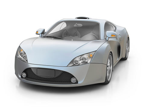 Sports Car「silver supercar」:スマホ壁紙(8)