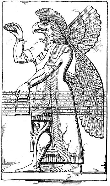 Pine Cone「Nisroch, Assyrian god, mid 19th century.」:写真・画像(6)[壁紙.com]