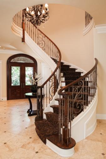 Tile「Elegant staircase in an upscale home.」:スマホ壁紙(3)