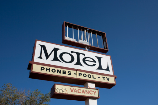 Motel「USA, Arizona, Winslow, Old motel sign」:スマホ壁紙(13)