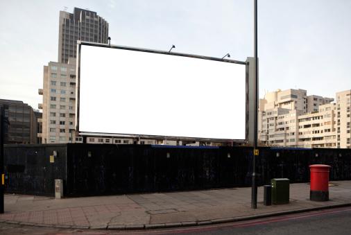 柵「ロンドンのビルボード/看板」:スマホ壁紙(5)