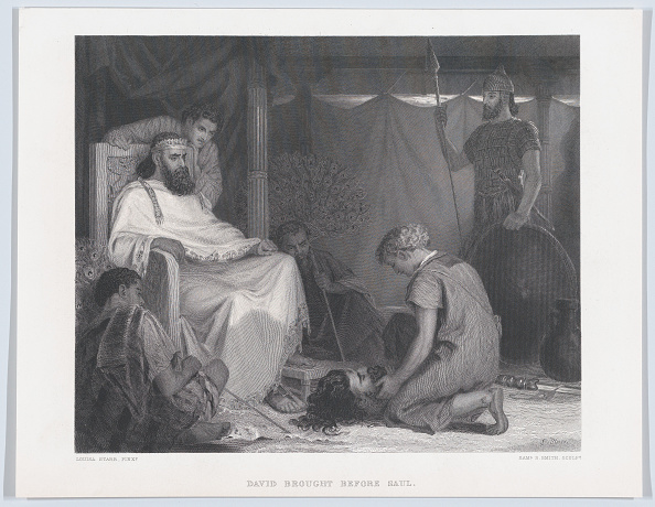 Etching「David Brought Before Saul」:写真・画像(0)[壁紙.com]