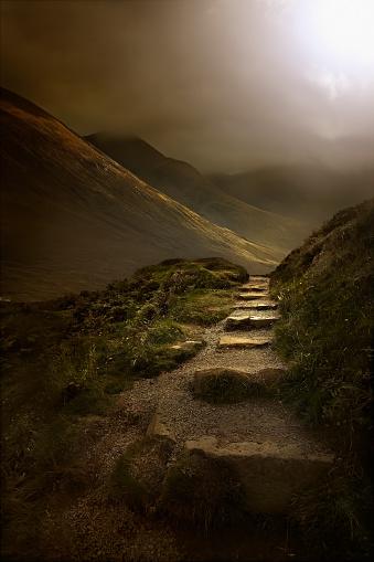 Isle of Skye「Stone steps on rural hillside」:スマホ壁紙(7)