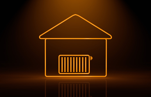 Digital Composite「symbolized house and radiator」:スマホ壁紙(15)