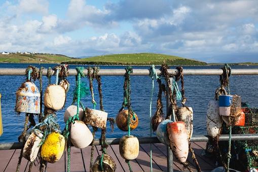 アキル島「Buoys On Dock; Achill Island, County Mayo, Ireland」:スマホ壁紙(7)