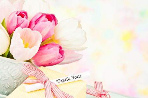 母の日「ありがとうメッセージのチューリップのカップ」:スマホ壁紙(19)