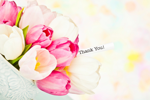 母の日「ありがとうメッセージのチューリップのカップ」:スマホ壁紙(4)